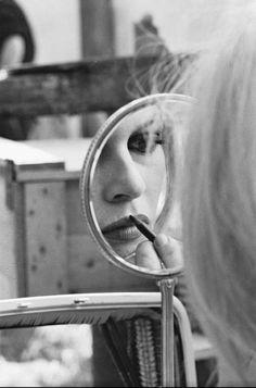 Brigitte Bardot, reflected...