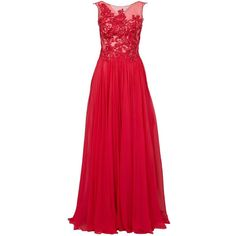 Zuhair Murad sequin embellished pleated gown (110.747.520 IDR) ❤ liked on Polyvore featuring dresses, gowns, long dress, red, sequin dresses, sequin gown, long red dress, red dress and red gown