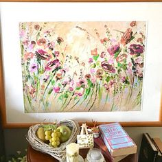 Original Oil Painting Abstract Flowers on Canvas Large Painting Abstract Art Green Impasto Flowers Summer Flowers Living Room Wall Art Decor Oil Painting Flowers, Abstract Flowers, Oil Painting Abstract, Texture Painting, Abstract Canvas, Knife Painting, Yellow Painting, Oil Canvas, Canvas Art