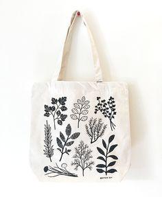 Herbs- Herbs Image of Herbs - Diy Tote Bag, Cute Tote Bags, Diy Inspiration, Shopper Bag, Printed Bags, Reusable Bags, Handmade Bags, Handmade Leather, Canvas Tote Bags