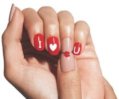 Celebrate love and romance with these super-cute nail art designs.