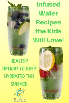 Infused Water Recipes the Kids Will Love! #mosswoodconnections #infusedwaterrecipes Healthy Eating Tips, Healthy Nutrition, Yummy Drinks, Healthy Drinks, Flavored Water Recipes, Ice Cream Deserts, Steak Dinner Sides, Summer Grilling Recipes, Health And Wellness Quotes