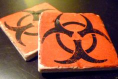 Biohazard Tumbled Marble by SickAndTiled     No longer available