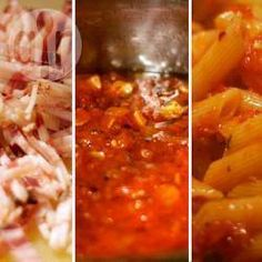 Dylan's fabulously simple pancetta penne amatriciana