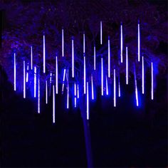 VSATEN Meteor Shower Lights Falling Rain Lights 8 Tube 144 LEDs Falling Rain Drop Icicle String Lights for Christmas Tree Halloween Decoration Holiday Party Wedding Decorations (Blue) Cascade Lights, Icicle Lights, String Lights, Light String, Solar Lights, Christmas Fairy, Christmas Lights, Christmas Porch, Christmas 2019