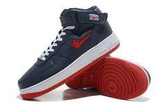 2014 Nike Air Force 1 High Blue Red