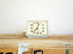 retro mint green alarm clock