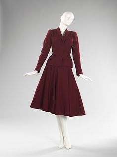Ensemble Designer: Charles James (American, born Great Britain, 1906–1978) Date: 1947 Culture: American Medium: wool, silk