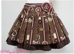 { Angelic Pretty } 2012 Chocolate Rosette skirt in brown Visual Kei, Chocolate Fashion, Harajuku, Dress Anak, Gothic Lolita, Lolita Style, Grunge, Angelic Pretty, Brown Skirts