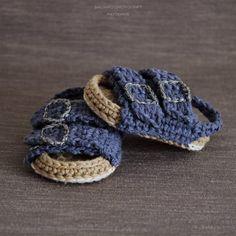 Crochet PATTERN. Birkenstock style baby sandals. #baby #crochet #crochetpattern #affiliate