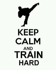 Training hard keeps me calm.