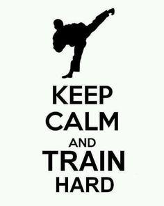 Training hard keeps me calm.