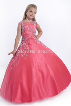 Party Time Perfect Angels Little Girls Ball Gowns Sheer Rhinestones Sequins Beaded Formal Wedding Party Flower Girls Pageant Dresses Kids Pageant Dresses, Pageant Girls, Princess Prom Dresses, Dresses For Teens, Cheap Dresses, Girls Dresses, Flower Girl Dresses, Flower Girls, Glitz Pageant