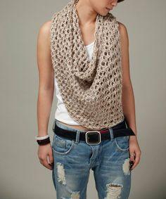 Petit poncho blé pull top foulard en coton tricotés à par MaxMelody