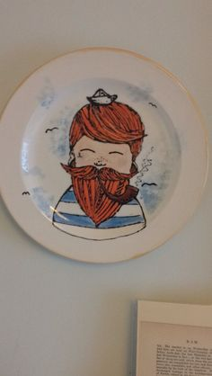 A plate I did for my mum about 6 moths go #illustration