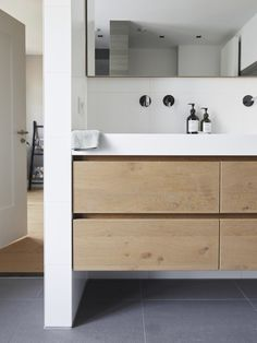If you have a small bathroom in your home, don't be confuse to change to make it look larger. Not only small bathroom, but also the largest bathrooms have their problems and design flaws. Small Bathroom Storage, Ikea Bathroom, Upstairs Bathrooms, Bathroom Design Small, Bathroom Cabinets, Bathroom Interior Design, Modern Bathroom, Bathroom Designs, Bathroom Ideas