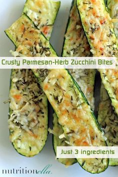 Crusty Parmesan Herb Zucchini Bites!  Looks Delicious!