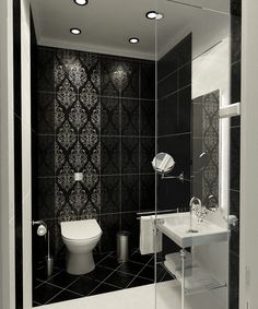 Modern Classic Style Bathroom Black And White Tile Best Bathroom Design Ideas Picture