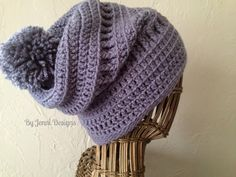 By Jenni Designs: Free Crochet Pattern: Women's Slouchy Textured Beanie                                                                                                                                                                                 More