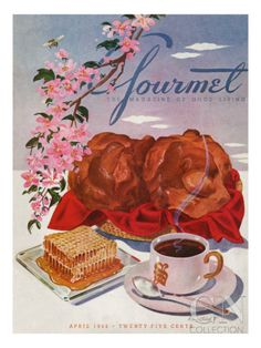 Gourmet Cover - April 1944 Poster Print by Henry Stahlhut at the Condé Nast Collection