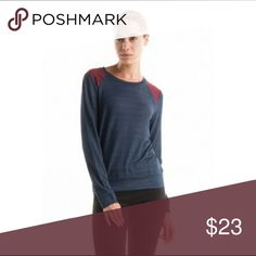 Long Sleeve Shoulder Detail Top Long sleeve top with suede shoulder detail.  This top is the perfect start to your fall wardrobe.  This top is so comfy!!!  Material is 64% Rayon 32% Polyester 4% Spandex. Color is Navy.  New Boutique Nwot Tops Tees - Long Sleeve