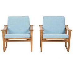 Finn Juhl Set of Oak Chairs for Pastoe