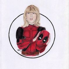 Love this fan art of Taylor Swift with the Deadpool costume : @over.expression http://ift.tt/2i1Yuye