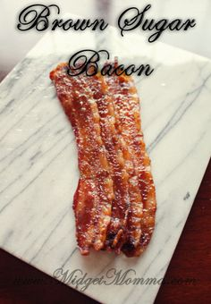 Brown Sugar Bacon is AMAZING! This recipe is so easy to make and it is the best bacon you will ever put in your mouth! Brown Sugar Bacon is AMAZING! This recipe is so easy to make and it is the best bacon you will ever put in your mouth! Bacon Breakfast, Breakfast Time, Breakfast Recipes, Brunch Recipes, Breakfast Ideas, Bacon Recipes, Cooking Recipes, Candied Bacon Recipe, Cooking Rice