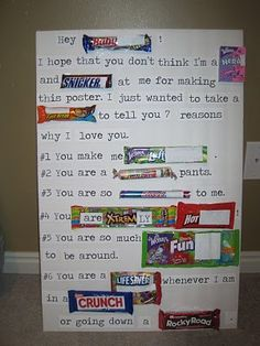 Say it with Candy Bars