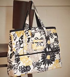 Stitch a large, sturdy tote that fits a laptop and work essentials. Free pattern!