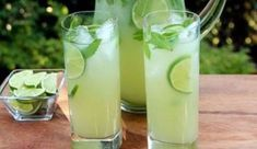 Vodka mint lemonade or limeade Summer Drinks, Cocktail Drinks, Fun Drinks, Beverages, Limoncello, Paper Straws, No Cook Meals, Glass Of Milk, Smoothies