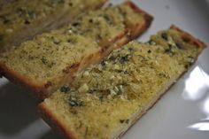 Tracy's KILLER Garlic bread at shutterbean. I added a small handful of grated parmesan cheese SO GOOD.