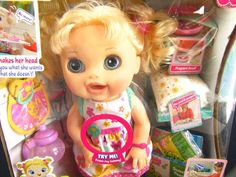 Interactive Baby Alive Doll Real Surprises Speaks Spanish English NEW DISCONTINU #BabyAlive