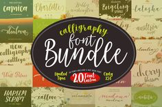 This is an awesome deal for Silhouette Cameo or Cricut crafters who loved handwritten and calligraphy fonts!