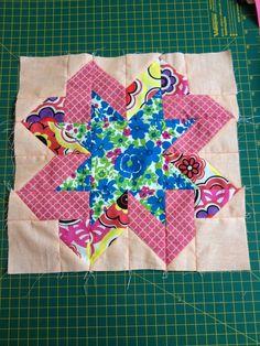 Fashion Craft: Maratona de Patchwork: Bloco 8 - Ribbon Star Block