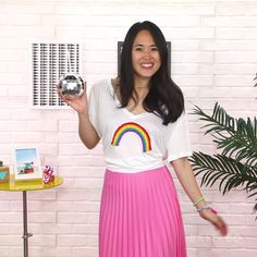 You can wear a rainbow t-shirt by following this easy style DIY video tutorial.