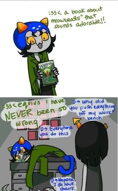 Homestuck. The Warriors series is anything but adorable.