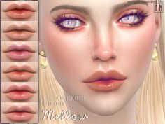 The Sims Resource: Mellow - Lip Gloss by Screaming Mustard • Sims 4 Downloads