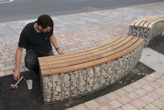 gabion seating - Google Search