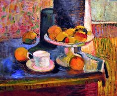 Henri Matisse - Still Life Compote, Apples, and Oranges. Another Matisse that I love Henri Matisse, Matisse Kunst, Matisse Art, Pablo Picasso, Andre Derain, Matisse Paintings, Paintings I Love, Floral Paintings, Paul Gauguin