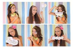 pastel baby photo booth props - perfect for a baby shower or a welcome ...