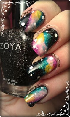 cool galaxy nails!