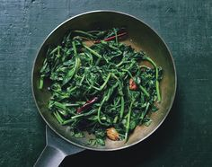 You can find pea shoots at Asian markets and some specialty markets, too. Look for those with firm, bright green leaves, a sign of freshness.