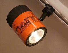 Oil Filter Light. perhaps for a man cave or a garage.