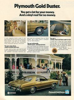 1973 Plymouth Gold Duster Advertisement Newsweek February 5 1973 | Flickr - Photo Sharing!