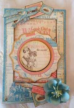 annes papercreations: Graphic 45 Come Away With Me 6 x 4 Slider Card video Tutorial