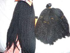 Meche afro kinky-cheveu crépu-crochet braids