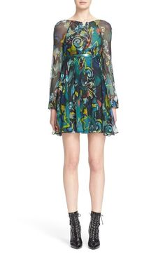Versace Collection Print Georgette Dress available at #Nordstrom