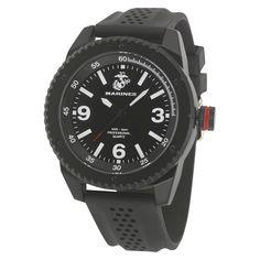 93ee1aa8fa9 Men s  Wrist Armor U.S. Marine Corps C20 Analog Quartz Watch - Black
