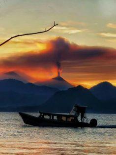 Erupción volcán en Guatemala